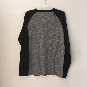 Hurley Shirts - NWT Hurley T-Shirt Gray w Black Long Sleeves